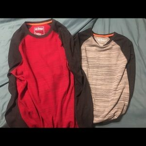 Two Men's Urban Pipeline size L thermal shirts